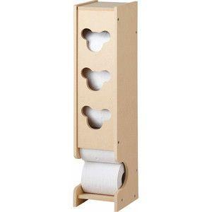 トイレラック  ナチュラル/ミッキー風 トイレ収納用品 liberty