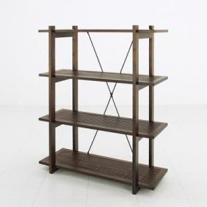 アジアン家具 バンブーシェルフ4段 /飾棚/店舗用品/リビングラック|liberty
