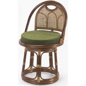 ラタン回転座椅子ハイタイプ らくらく背もたれ付き籐高座椅子/座敷いす/ラクラクチェアー  |liberty