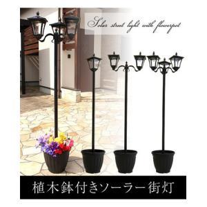 植木鉢付きソーラー街灯 1灯   クラシックライト 玄関照明 ガーデニング|liberty
