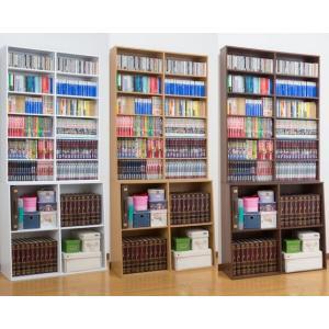 ロング本棚/書棚/90幅 本屋さんの大容量ハイタイプブックシェルフ  文庫本ラック/コミックラック/CD収納/DVD収納 |liberty