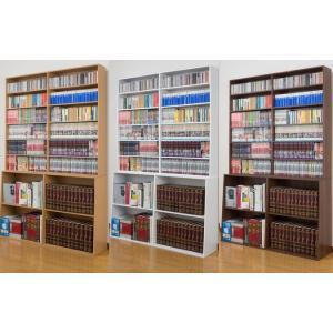 ロング本棚/書棚/120幅 本屋さんの大容量ハイタイプブックシェルフ  文庫本ラック/コミックラック/CD収納/DVD収納 |liberty