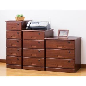 全段鍵付きチェスト隠しキャスター付き 木製引き出し貴重品収納家具 セキュリティ/シークレット|liberty