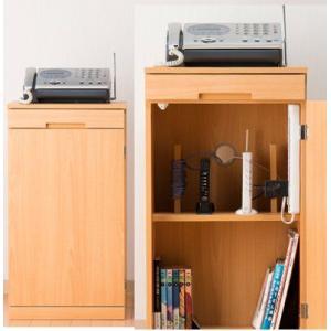 FAX台 モデム収納電話台ファックス台/ルーターとタップ収納マルチラック|liberty