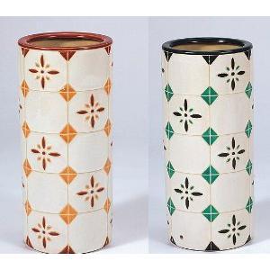 傘立て 陶器  グリーン/オレンジ各 アンブレラスタンド|liberty