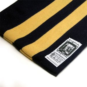 English Tradition (イングリッシュ トラディション) トラッドスタイル ストライプ スクールマフラー Gold × Navy