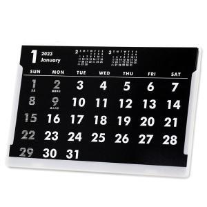 2020年ポストカードサイズ卓上カレンダー(ブラック&ホワイト)12冊から名入れ無料 壁掛けも可|librorianet