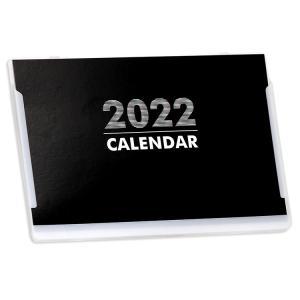 2020年ポストカードサイズ卓上カレンダー(ブラック&ホワイト)12冊から名入れ無料 壁掛けも可|librorianet|02