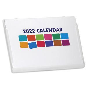 2019年ポストカードサイズ卓上カレンダー(ポップカラー)12冊から名入れ無料 壁掛けも可|librorianet|02