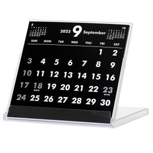 2019年9月始まりCDケース卓上カレンダー(ブラック&ホワイト)|librorianet