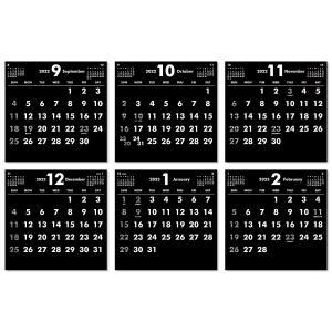 2019年9月始まりCDケース卓上カレンダー(ブラック&ホワイト)|librorianet|04