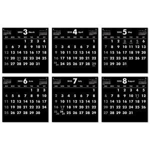 2019年9月始まりCDケース卓上カレンダー(ブラック&ホワイト)|librorianet|05