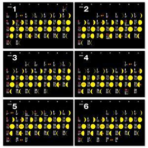 2020年月齢カレンダーVol.2(moon-yellow)12冊から名入れ無料 壁掛けも可|librorianet|04