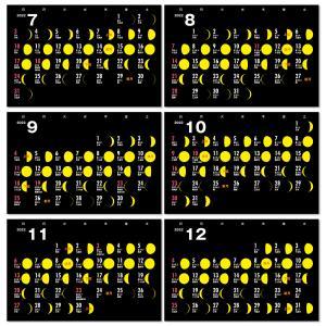 2020年月齢カレンダーVol.2(moon-yellow)12冊から名入れ無料 壁掛けも可|librorianet|05