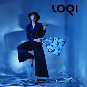 ローキー LOQI エコバッグ 素材:ポリエステル100% サイズ:約幅500ミリ×高さ420ミリ持...