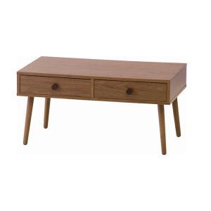 【送料無料】 リビングテーブル  ALM13 テーブル コンパクト 幅80cm 一人暮らし 高さ39.5cm 引き出し 引出し 収納  かわいい 天然木 リビング ブラウン|licept