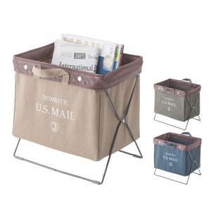 【送料無料】u.s mail フォールディングバッグ MIP-89※メーカー直送の為同送・代引き不可 取っ手付バスケット 布製 カフェ荷物入れ 折りたたみ  オシャレ 収納|licept