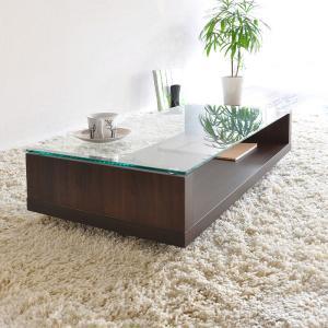 フロアテーブル OLBIA オルビア AR-GT97 リビングテーブル ブラウン ホワイト  送料無料 ※メーカー直送の為代引き・同送できません。|licept