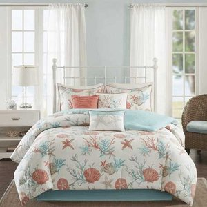 MADISON PARK(マディソンパーク) /ベットリネン7点セット*Pacific Grove Coral Cotton Comforter Set OS18524319