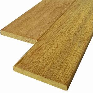 ウッドデッキ アンジェリーナ DIY 材料 12×105×2400mm (2.4kg) フェンス材 幕板材 格子材 デッキ材 天然木 liebe