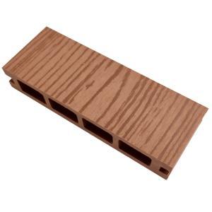 ウッドデッキ 人工木材 サンプル オーロラデッキ 25×140×50mm ライトブラウン 床板 板材 人工木 樹脂デッキ (お一人様一点限り) liebe