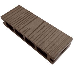 ウッドデッキ 人工木材 サンプル オーロラデッキ 25×140×50mm ダークブラウン 床板 板材 人工木 樹脂デッキ (お一人様一点限り) liebe