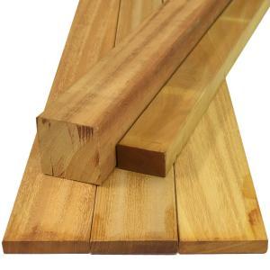 ウッドデッキ イタウバ フィエラ DIY 材料 12×105×2400mm (2.6kg) フェンス材 幕板材 格子材 デッキ材 天然木|liebe