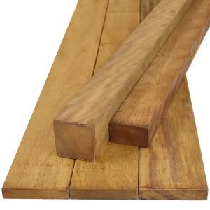 ウッドデッキ イタウバ マットグロッソ DIY 材料 38×45×1800mm (3.0kg) フェンス 枠材 デッキ材 天然木|liebe