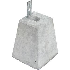 羽子板付束石 90角材向け/高さ240mm (15.0kg)  沓石|liebe