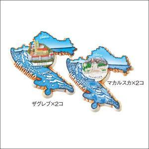 【世界の小物たち★クロアチア】クロアチア マグネット 2種4コセット