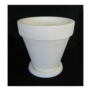 植木鉢 イタリア製樹脂ポット TLB-40 皿付 ホワイトの商品画像|ナビ