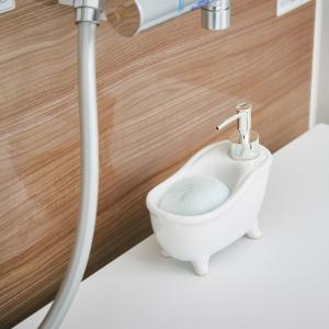ソープディスペンサー「 bathtub(バスタブ)」【ホワイト】 life-energy-webkan