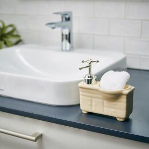 ソープディスペンサー「 bathroom sink(バスルームシンク)」【アイボリー】 life-energy-webkan