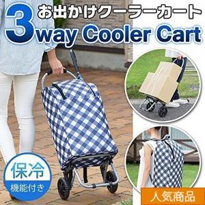 機能性・収納力バツグン! 折りたたみ式のキャリーカートと、保冷バッグが一緒になった、 便利な「お出か...
