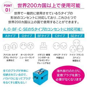 マルチ変換プラグ 海外旅行用 【忘れ物防止リス...の詳細画像3