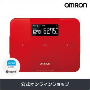 オムロン 公式 体重体組成計 体重計 デジタル 体脂肪率 レッド HBF-255T-R Bluetooth通信対応 送料無料|life-rhythm