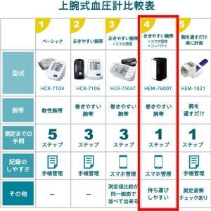 オムロン 公式 上腕式血圧計 ブラック HEM-7600T-BK チューブレスコンパクトモデル 送料無料|life-rhythm|04