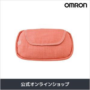 オムロン 公式 クッションマッサージャ レッド HM-343-R さらさら生地カバー 送料無料|life-rhythm