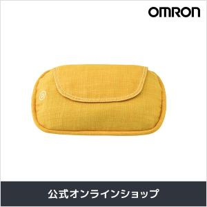 オムロン 公式 クッションマッサージャ イエロー HM-343-Y さらさら生地カバー 送料無料|life-rhythm