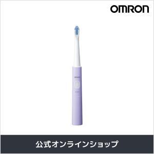 オムロン 公式 音波式電動歯ブラシ パープル HT-B210-V 乾電池式|life-rhythm