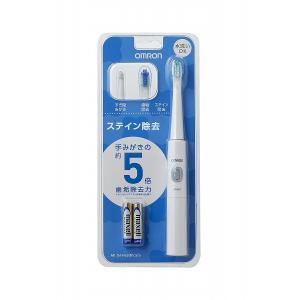 オムロン 公式 音波式電動歯ブラシ ホワイト HT-B211-W 乾電池式|life-rhythm|02