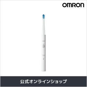 歯垢をすみずみまで除去する「タテ・ヨコ振動」」  OMRONの「音波式電動歯ブラシ(HT-B308-...