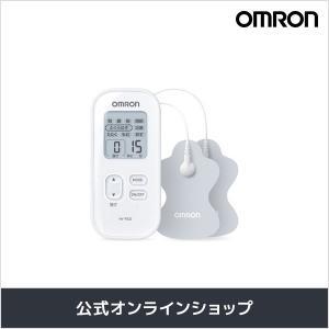 オムロン 公式 低周波治療器 ホワイト HV-F022-W パッド 簡単操作 こり 痛み 腰痛 筋肉痛 肩 腰 腕 関節 コンパクト 送料無料の画像