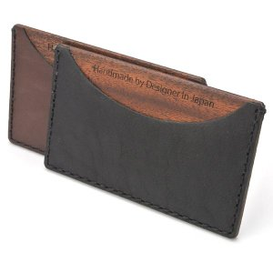 for card case07 木と革のカード入れ|life-store