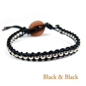 ヘリカル ブレスレット (黒&黒)|life-store