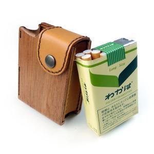木&革製タバコケースわかば専用|life-store