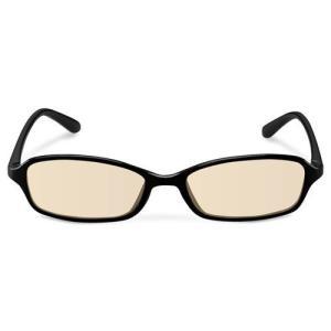 エレコム ブルーライトカット眼鏡/ブラウンレンズ/スクエアフレーム/ブラック G-BUB-S02BK|life-studio