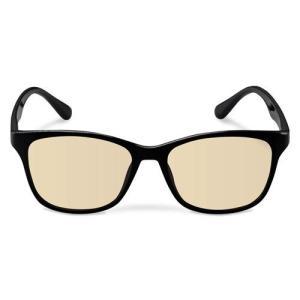 エレコム ブルーライトカット眼鏡/ブラウンレンズ/ウェリントンフレーム/ブラック G-BUB-W02BK|life-studio