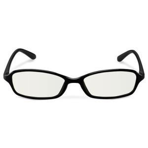 エレコム ブルーライトカット眼鏡/クリアレンズ/スクエアフレーム/ブラック G-BUC-S02BK|life-studio