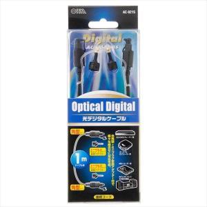 オーム電機 05-0215 光デジタルケーブル ミニプラグ変換アダプター付 1m AC-0215